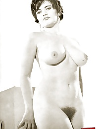 Several vintage girls showing their big boobies on camera