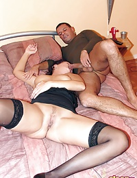 Drunk brunette chick gets fucked while sleeping in stockings