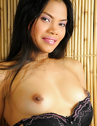 Sexy Bianca strips and proudly shows off her boobies and her love orifices in her whorehouse
