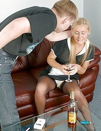 Watch this maid girl - smoking, drinking and paying for her pleasures