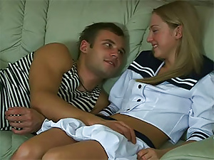 Cute teen girl in sailor suit gets hardcore