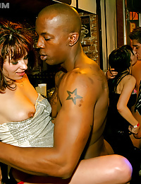 Horny fucking party at dance club