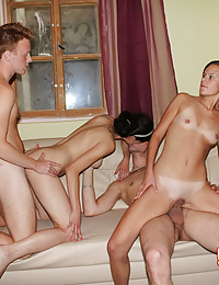 Fascinating foursome sex