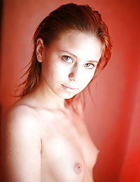 Krissta reveals her petite breasts and glowing skin as she wakes up from a great dream.