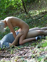 Hot innocent girl fucked outdoors
