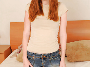 Tall petite red headed girl next door gets naughty for Nubiles