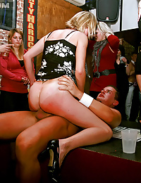 Horny chicks shagging at the club