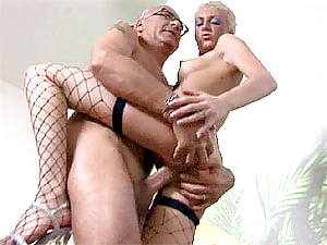 Dirty blonde slutty bimbo fucked by Jims his stiffy wiener