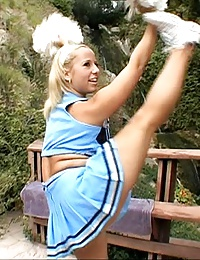 dude nails big butt cheerleader chick