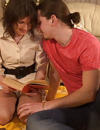 Cute brunette teen tutor gets fucked in ass
