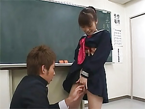 Young Asian schoolgirl gets punishment from her teacher