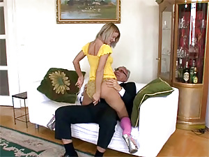 Horny old gentleman screws a very hot british babe hard