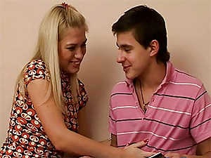 Blonde teen cutie shares her boyfriend with her best friend