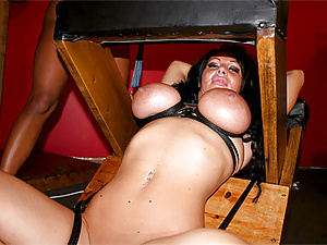 Punished by having sex with her slave tits tied up tight