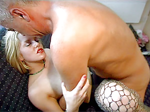 Dirty blonde slut boinked by the British geezer Jimslip