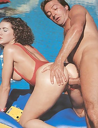 Seventies lady fucked in the water