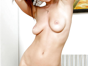 Stunning rita undresses and shows off her pretty pooter