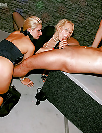 Hot dancing babes drilled at club
