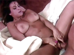 Real vintage hot babe sucking and fucking on her own bed