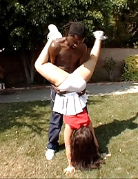 sexy cheer girl gets smashed