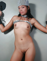 Young Gretta agrees to have her cute body tied to play some arousing sex games