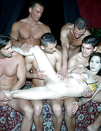 Milky skinned honey takes on several dicks in all holes