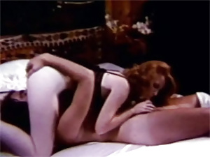 Redhead retro chick fucked in her hairy tight pussyhole
