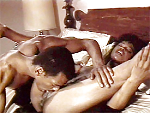 Horny black seventies couple getting real dirty together