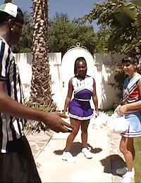 horny young cheerleaders swallowing thick cock juice