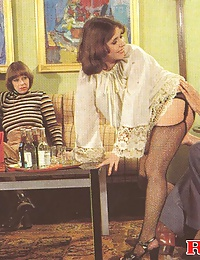 Three hairy seventies ladies having fun with three guys
