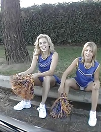 horny cheerleader sluts sharing man milk orally
